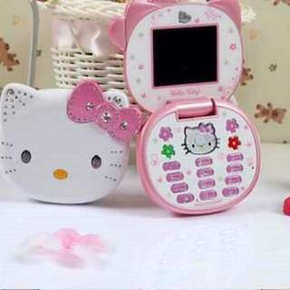 Hellokitty K688  P1,750 Fliptop  Dual sim Open line Camera Video Audio/MP3  Fm Bluetooth  Expandable memory(external) Memory card slot Unit,box & charger,headset