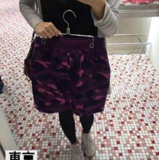 A bathing ape 米彩紫色半節裙
