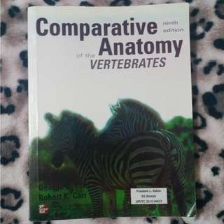 Comparative Anatomy of the Vertebrates (Kent and Carr)