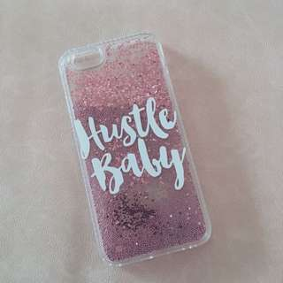 "Pink ""Hustle Baby"" Iphone 6/6s case"