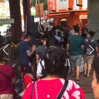 Bak Kwa queuing at Lim chee quan