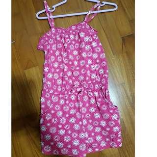 FREE MAIL Prelove Kids pink flora jumper Pink romper (size 3) Australia brand