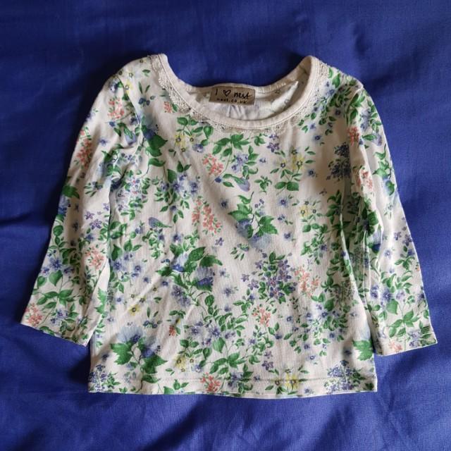 3-pc Long-sleeved Cotton Shirt (3-6 mos)