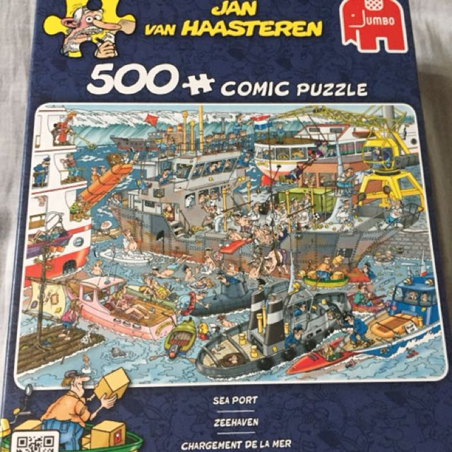 500 pc comic framed puzzle