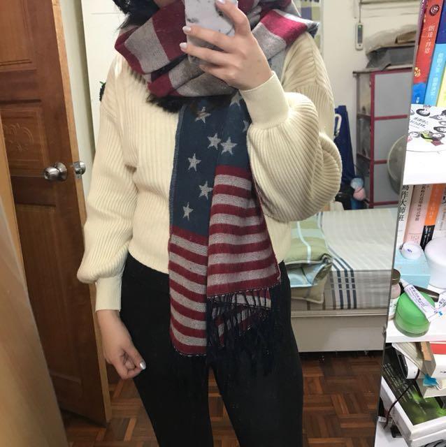 美國🇺🇸國旗圍巾