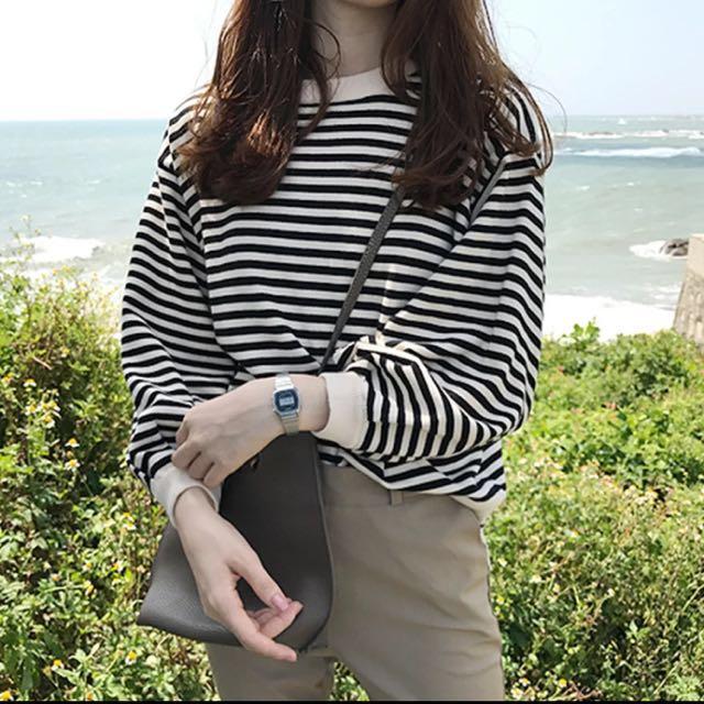 針織條紋衫