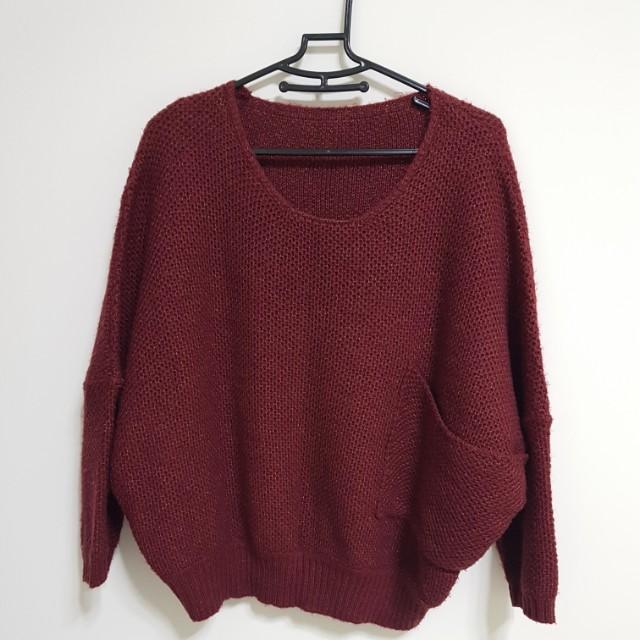 [百元]大口袋針織毛衣