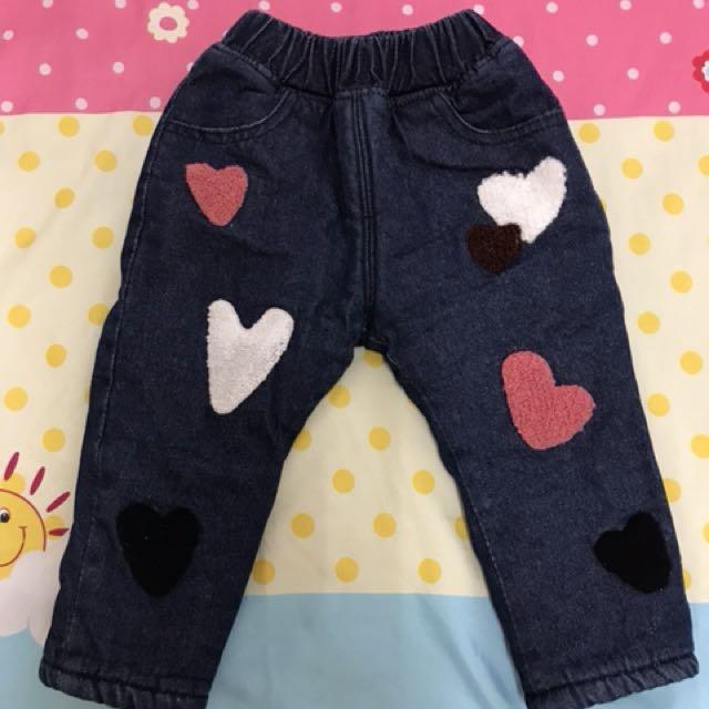 寶寶 幼童厚鋪棉長褲