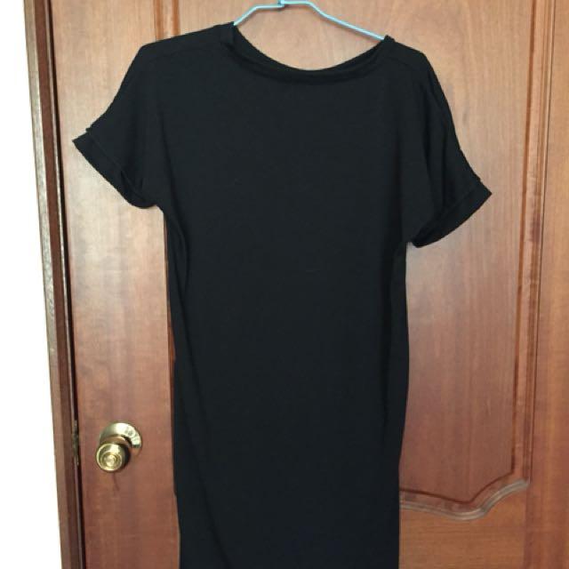 薄 黑長版上衣