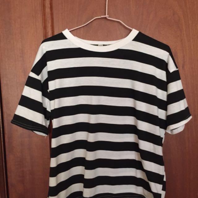 短版 條紋 衣