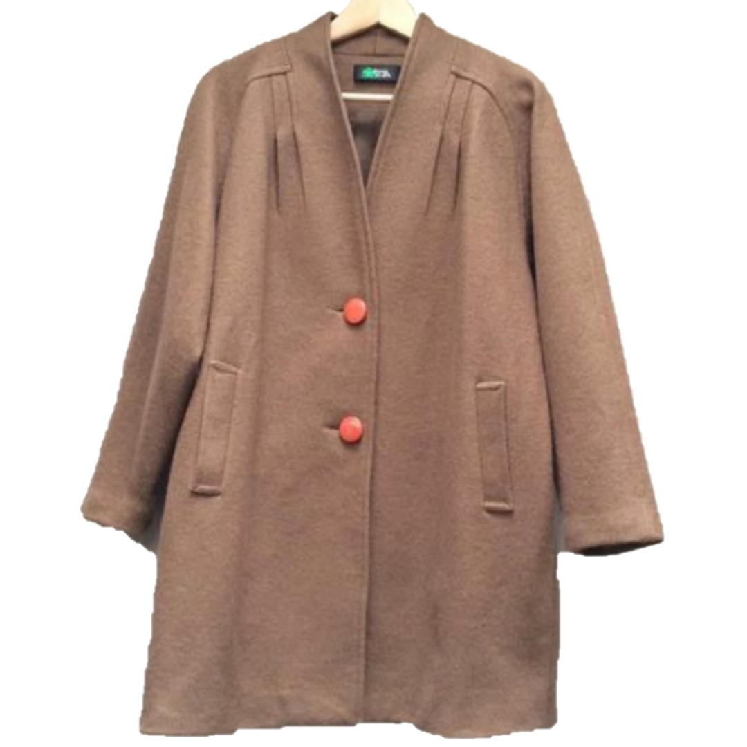 古著 vintage 咖啡色大衣外套