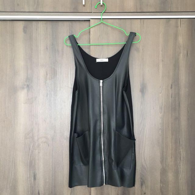 💯 Zara Faux Leather Dress