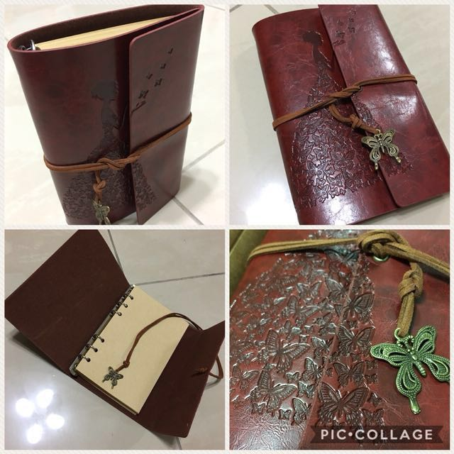 A6 size Vintage Note Book/Refillable/80 sheets of Notes/Free Local Mail
