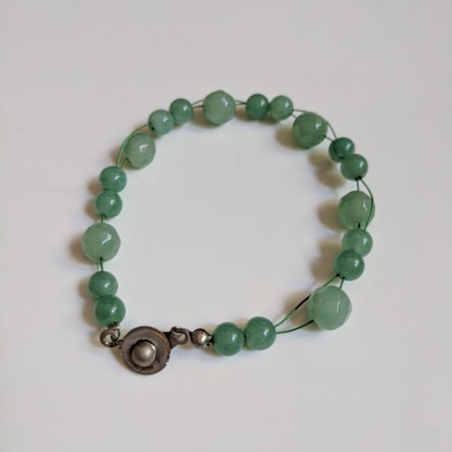 Adventurine Gem Stones Bracelet