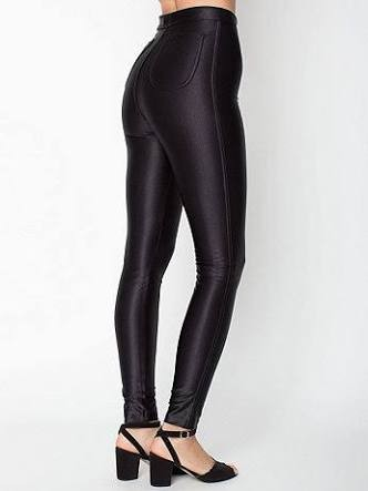 American Apparel Black disco pants shiny xs size 6 8