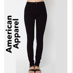Brand new American Apparel Black easy jeans xs size 6 8