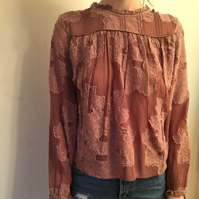 Aritzia Lourdes blouse XS