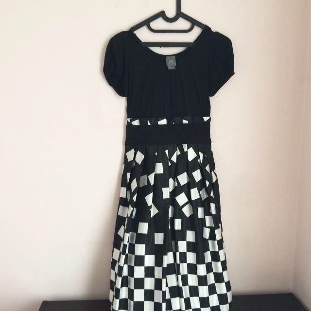 Armani Xchange B&W Dress