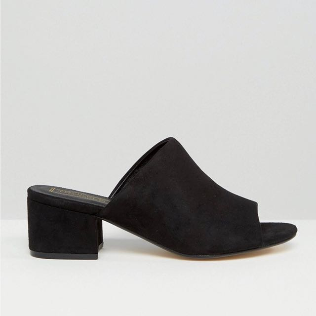 ASOS Truffle Collection mid heel mules