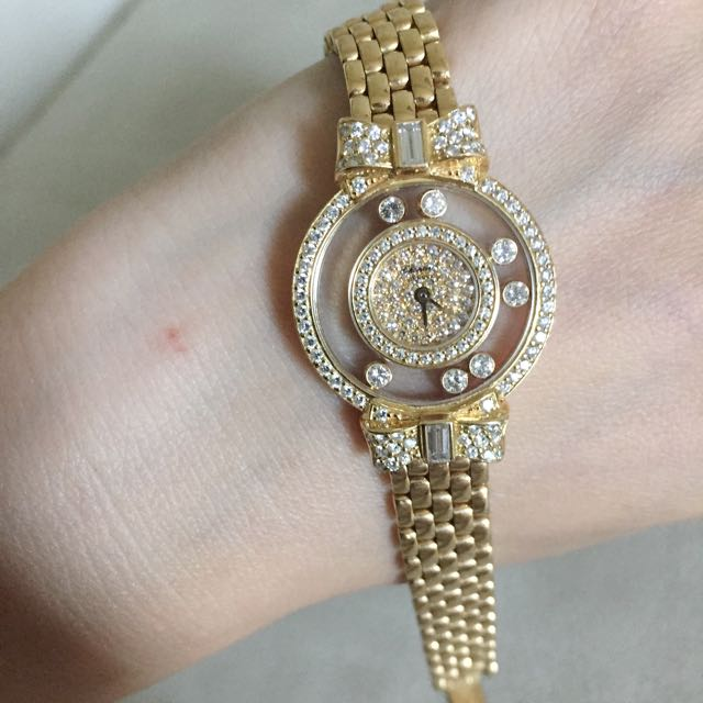 7d8d9bfd2773e Authentic Chopard 18k Full Diamonds Happy Diamond Watch