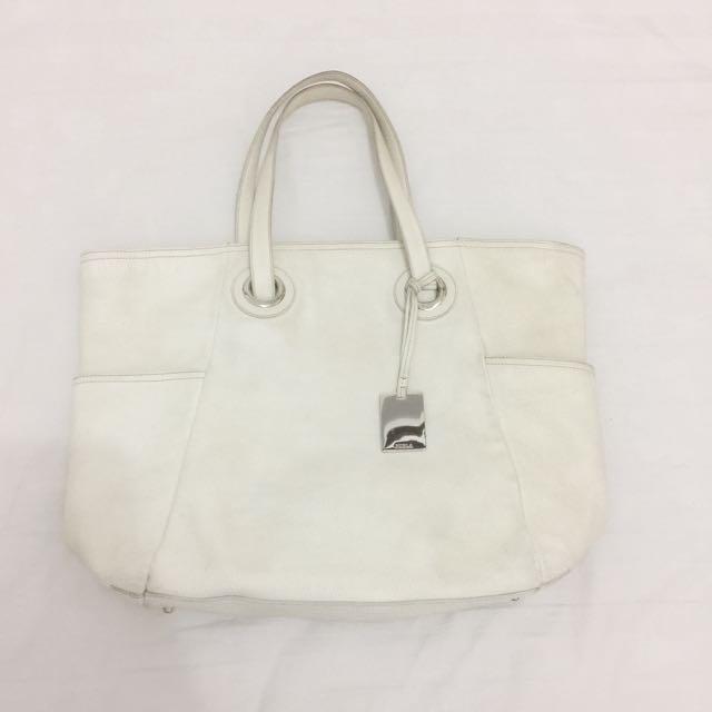 Authentic furla genuine leather tote bag