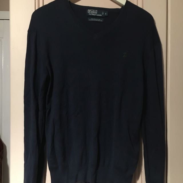 Authentic Ralph Lauren Polo Navy V-Neck jumper