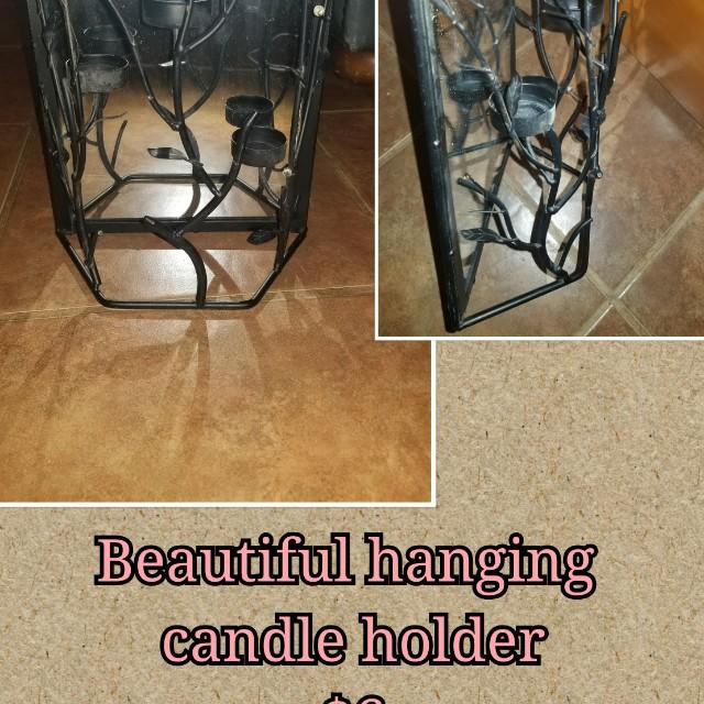 Beautiful hanging candle holder