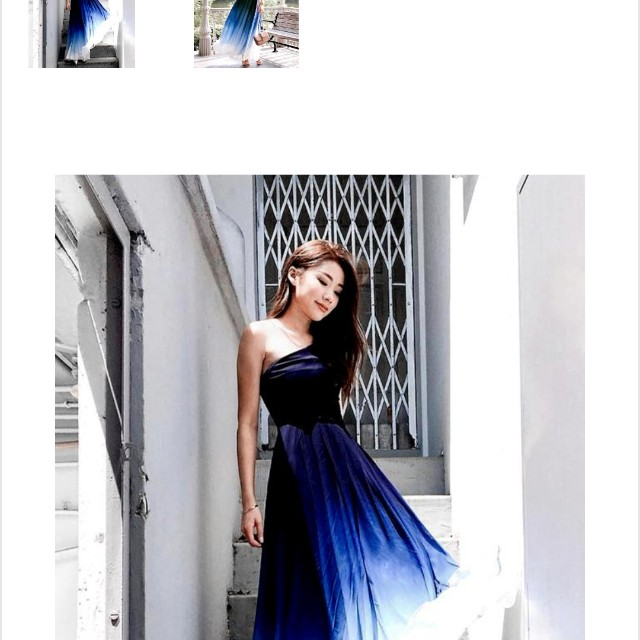 Beautiful toga dress ombre, Women\'s Fashion, Clothes, Dresses on ...
