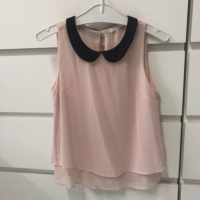 Bershka pink top