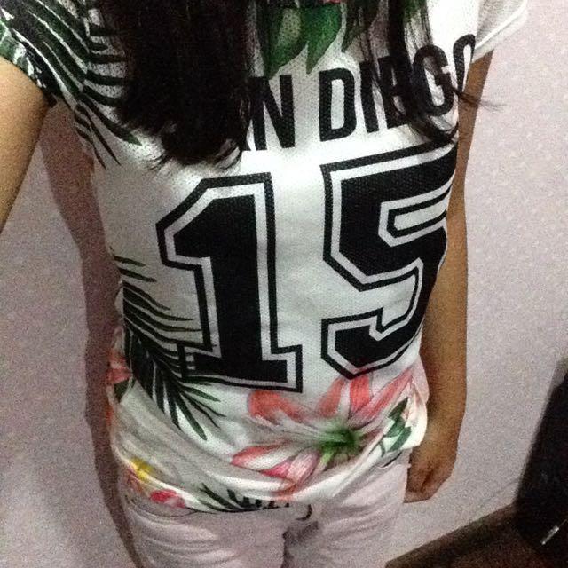 bershka tropical tshirt