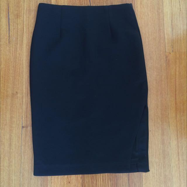 Black Scuba Skirt Size 10