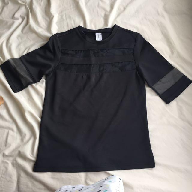 Black t/shirt - mesh material