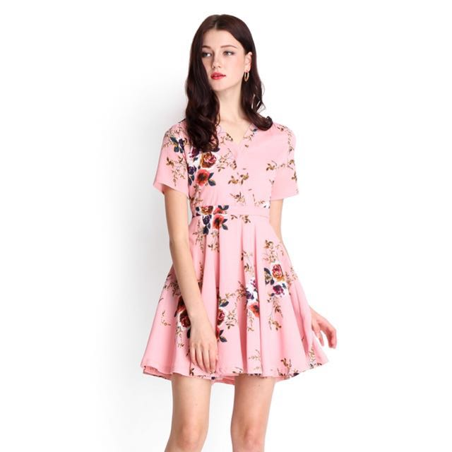 BNWT Size S Lilypirates Strawberry Sherbet Dress in pink florals