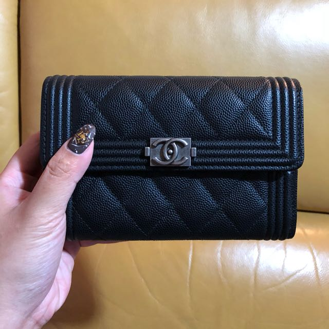 94bb0c1991d0 Boy Chanel small flap wallet, Luxury, Bags & Wallets on Carousell