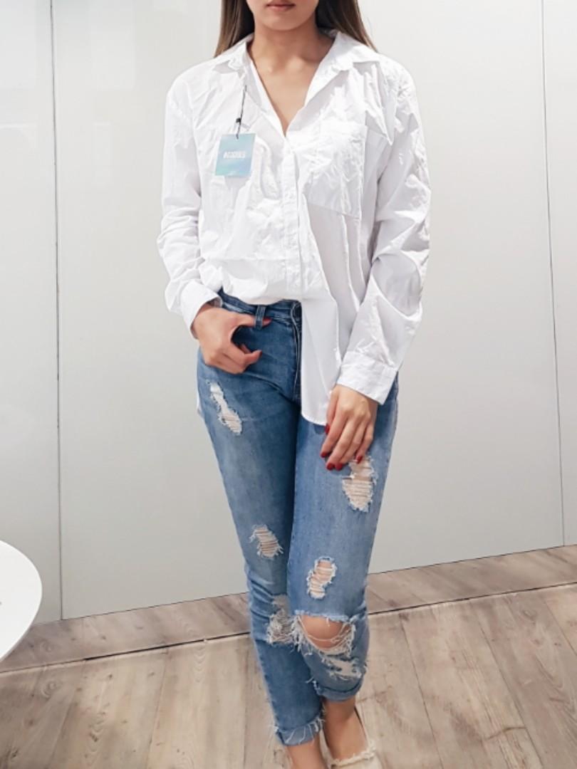 Brand new missguided cotton poplin shirt blouse size 8