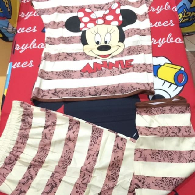 Brown minnie mouse terno tokong for adult
