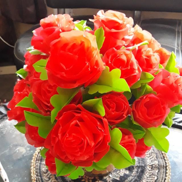 Bunga Mawar Dari Plastik Design Craft Artwork On Carousell