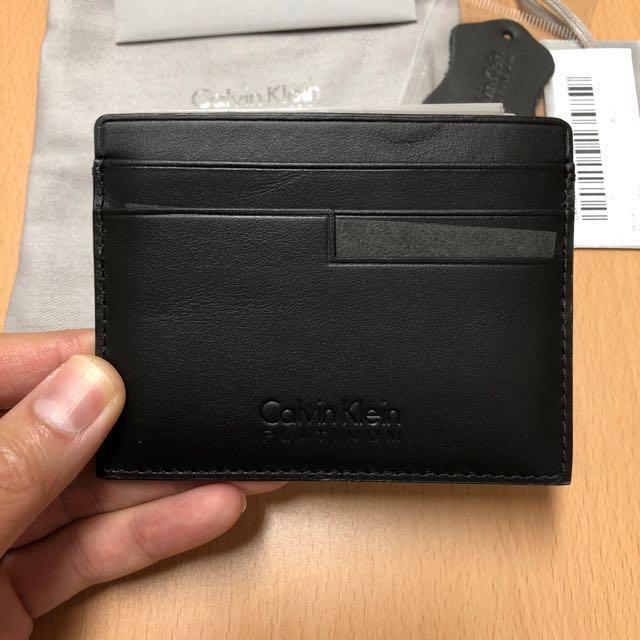 Calvin Klein Platinum - Leather Cardcase