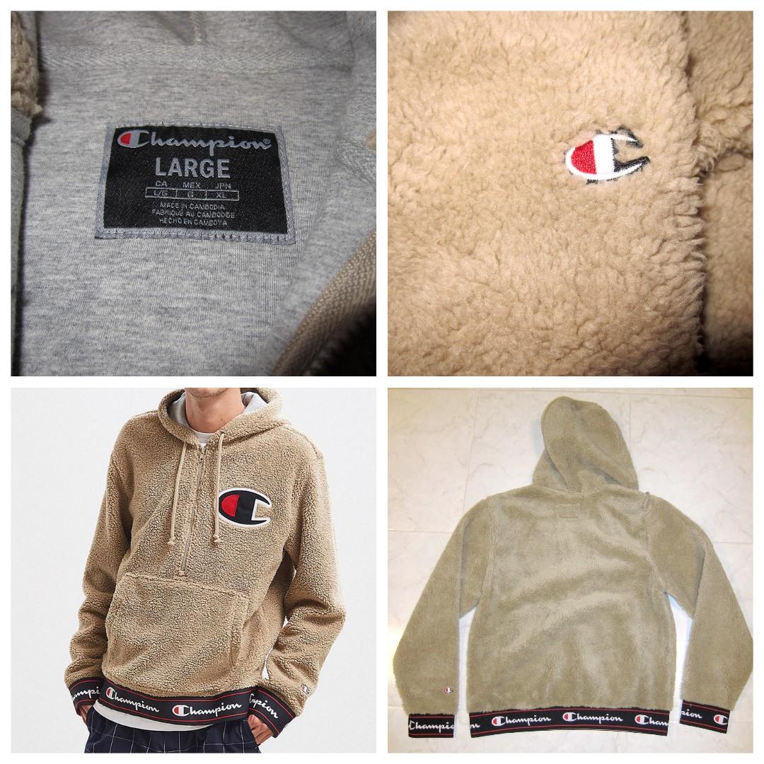 d8a1ac15bc98 Champion Life Khaki Sherpa Pullover Hoodie Sweatshirt off