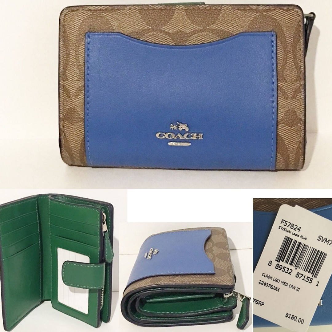ea48ec5c5c43b CLEARANCE DEAL! BNWT AUTHENTIC MEDIUM CORNER ZIP WALLET IN ...