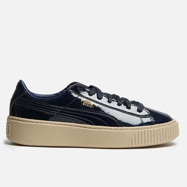"innovative design 1ebdd 436a8 CNY Sale ⚡️ Puma Basket Platform Patent Women's ""Peacoat"" Brown Gum Creeper  Shoe"