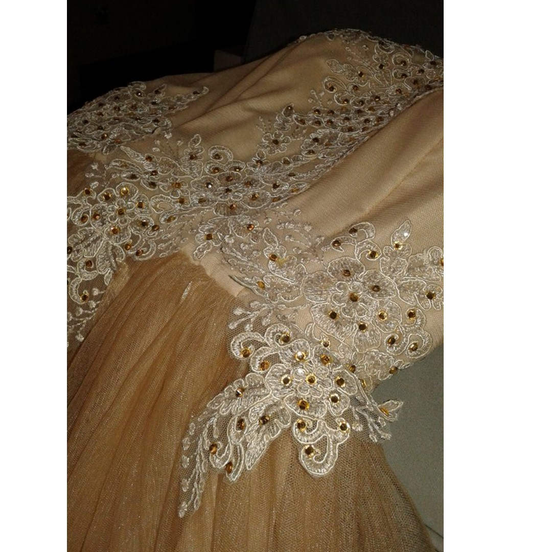 JS prom/Graduation ball Cocktail  Gown (Nude/Beige) FOR RENT/SALE