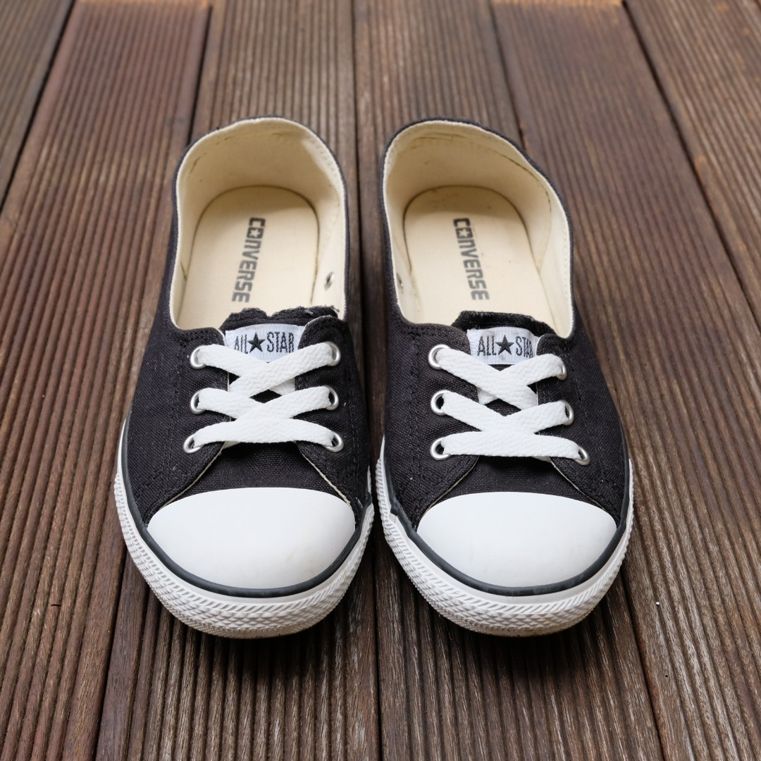 Converse Slip on with Lace in Black 02e7795b86