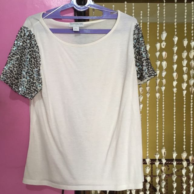 Cotton On Glittery Basic Top