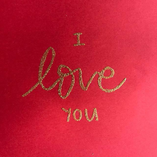 Custom Embossed Valentine's Day Card