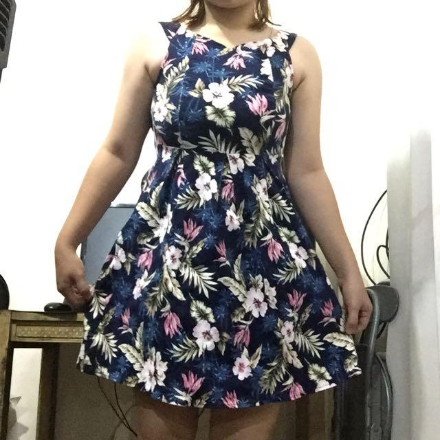 Dark blue Floral Dress
