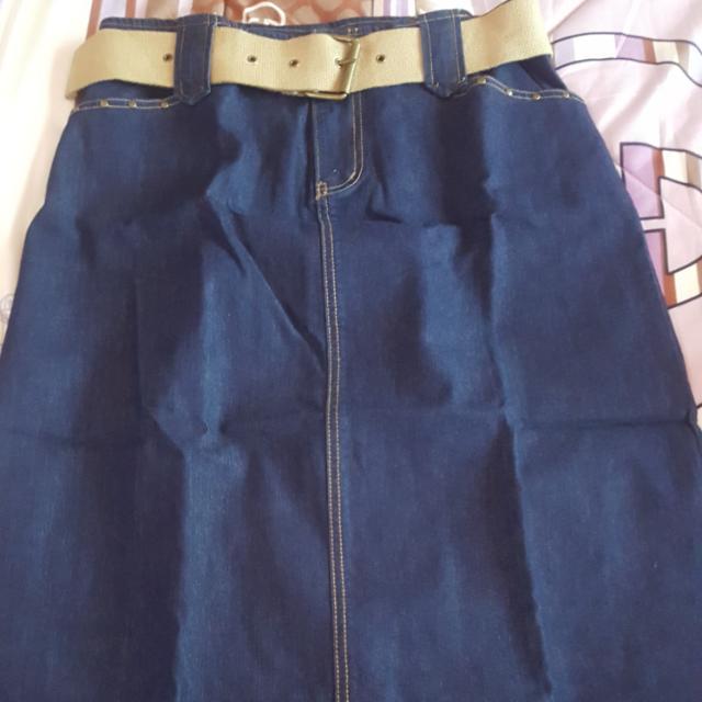 Denim Long Skirt On Sale