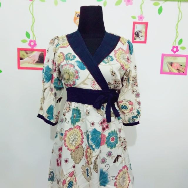 Dress Kimono Navy