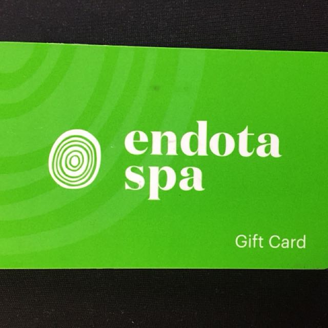 Endota Spa Gift Card Valued $120, Sell For $90