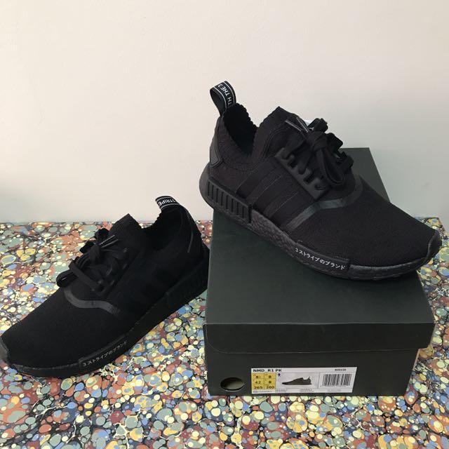 fd7d4c85e For Sale)US 8.5 Adidas NMD R1 PK Triple Black